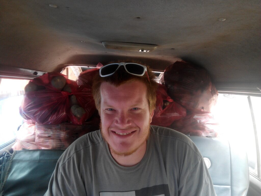 Taking a local share van out to the countryside in Cambodia cost $2.50 vs. $20 for a tuk tuk to the same place.