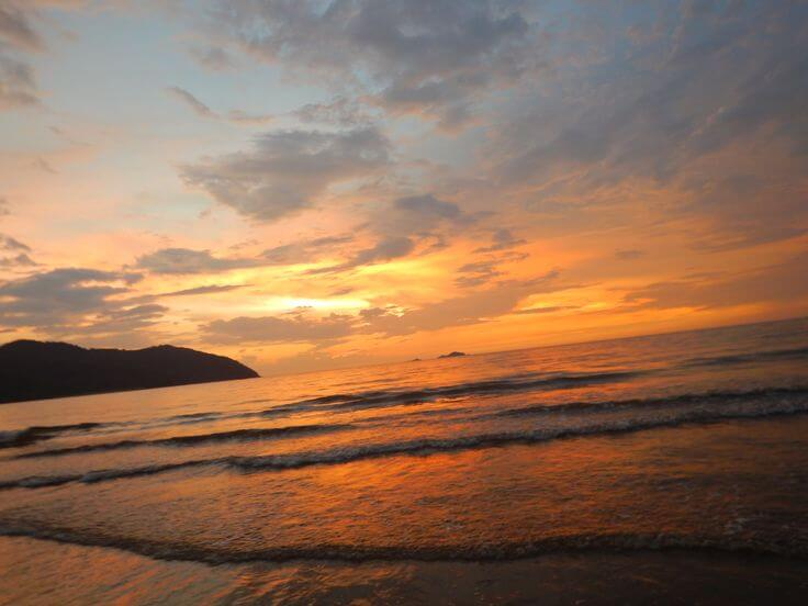 Another stunning sunset at Anjuna beach in northern Goa.