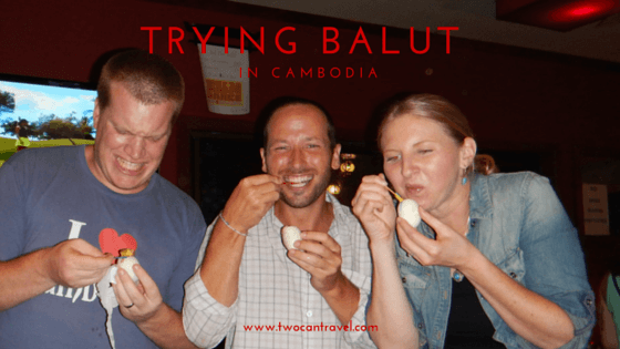 Trying balut