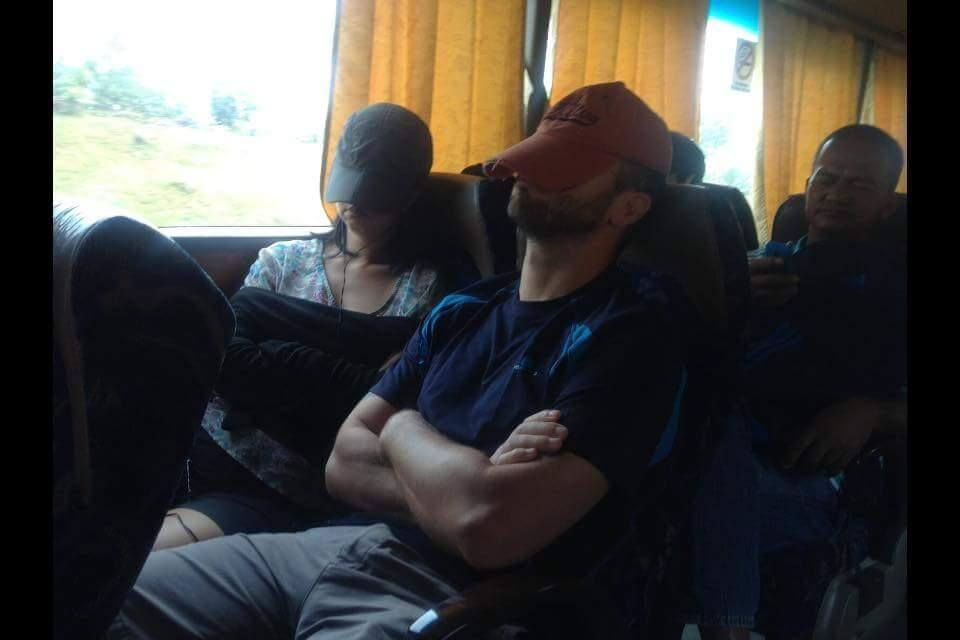 Plenty of long bus rides to catch up on sleep.