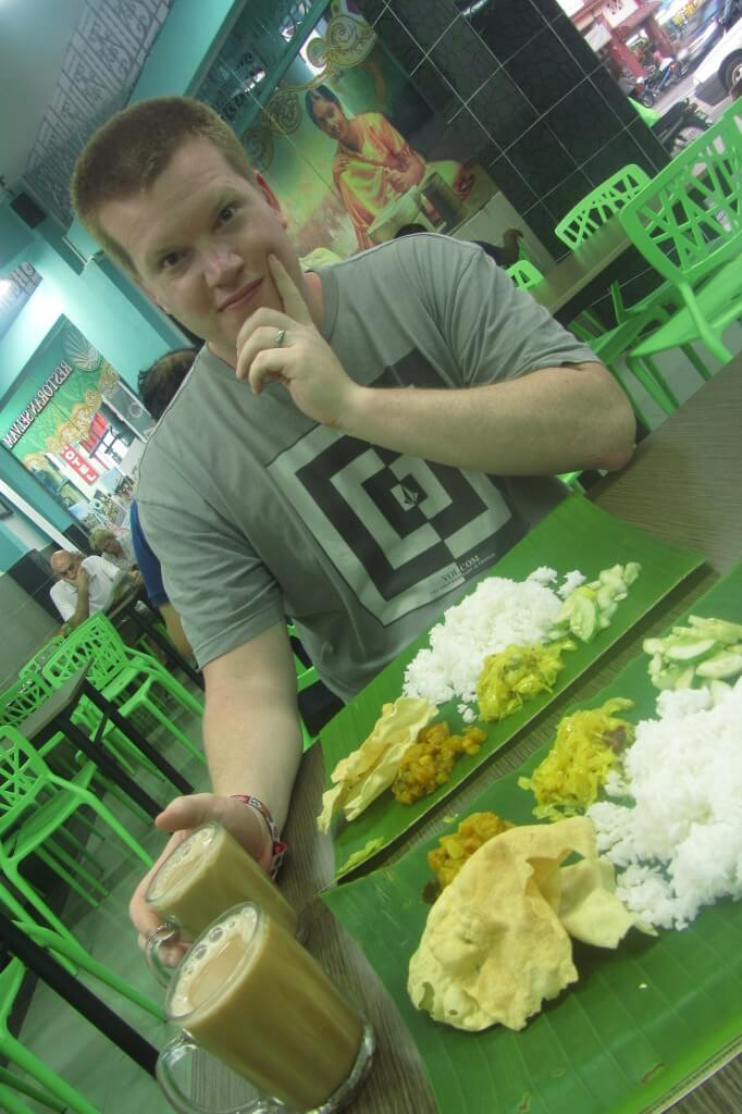 Indian food served on banana leaves. Need I say more?