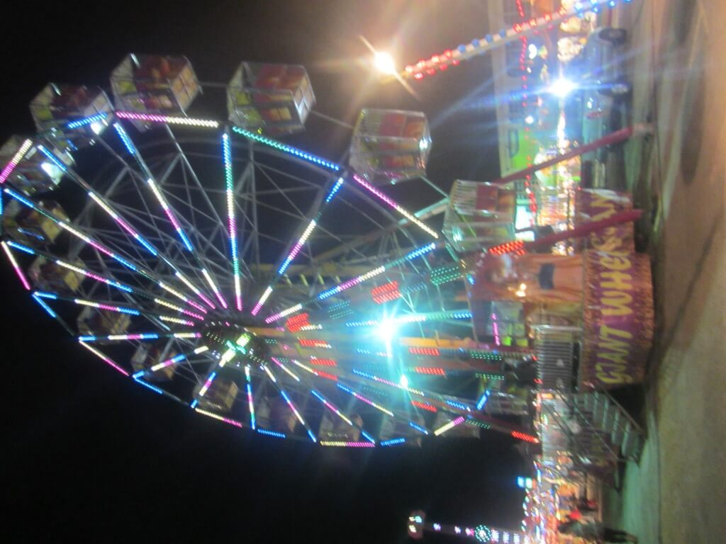 On an evening walk we found this year-round fair. Of course we had to ride the Giant Wheel :)
