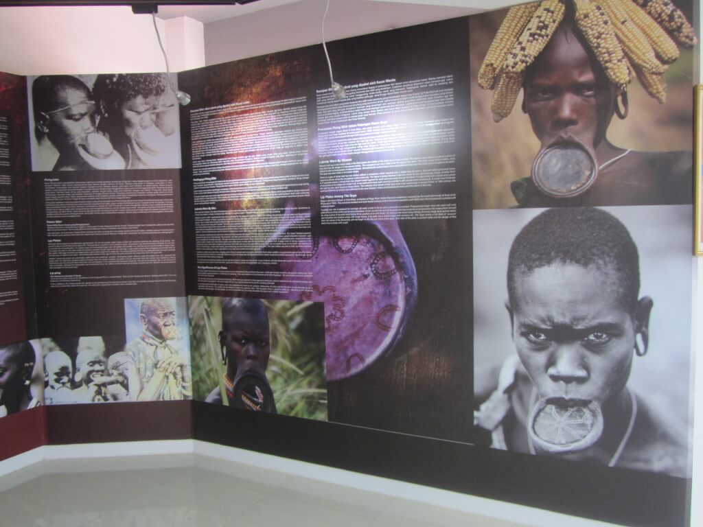 Beautiful exhibits at the Kompleks Muzium Rakyat about body art and piercings from cultures in South East Asia.