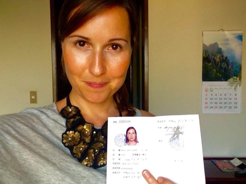 Me, with my North Korean visa. I love going offbeat places nobody goes to. You can read more here.