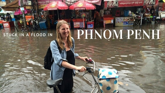 Caught in a flood in Phnom Penh