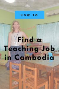 teaching job Cambodia